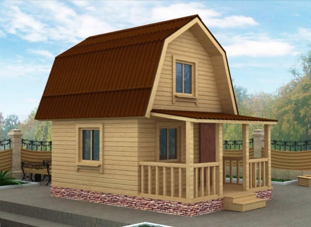 Дачный дом 4х6 с террасой