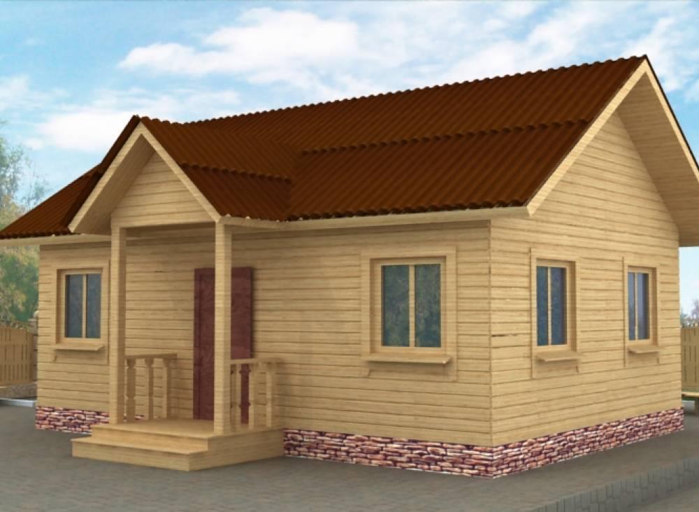 Дачный дом 6х8 с крыльцом