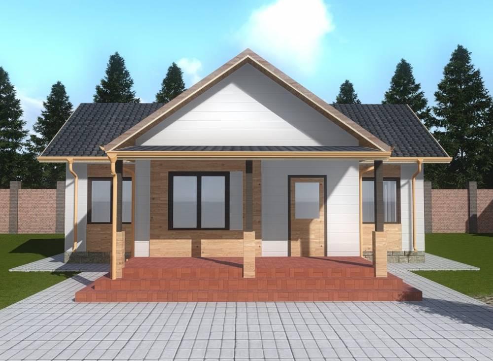 Проект каркасного дома 9х12