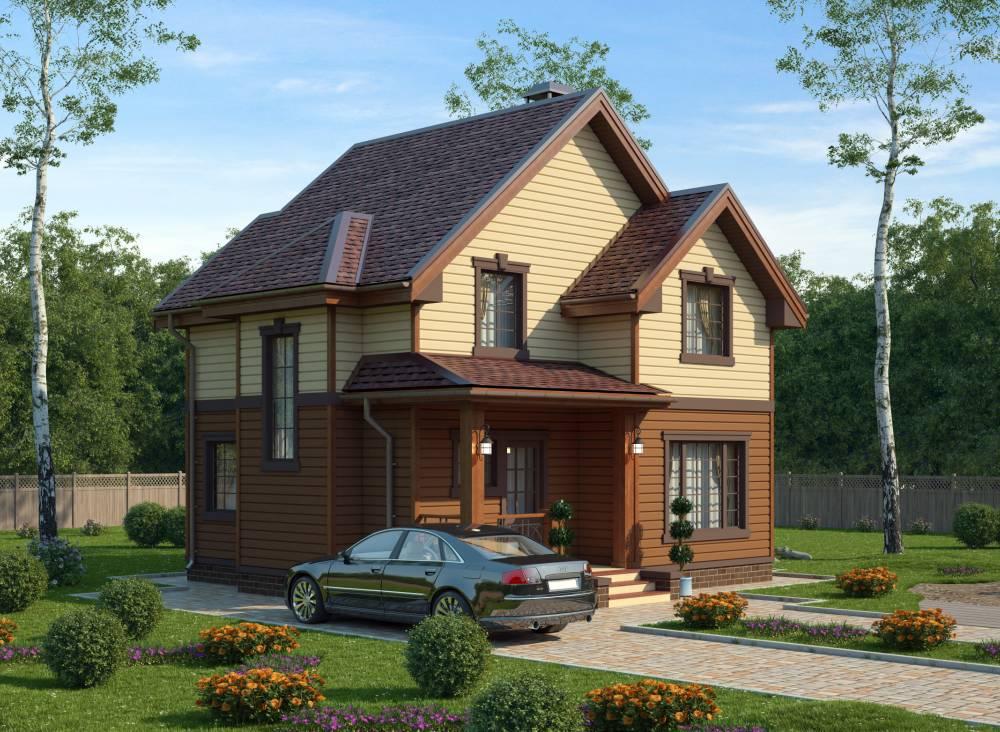 Проект каркасного дома ДЕМО 2